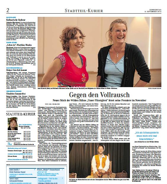 """19.09.2016 """"Gegen den Vollrausch"""""""