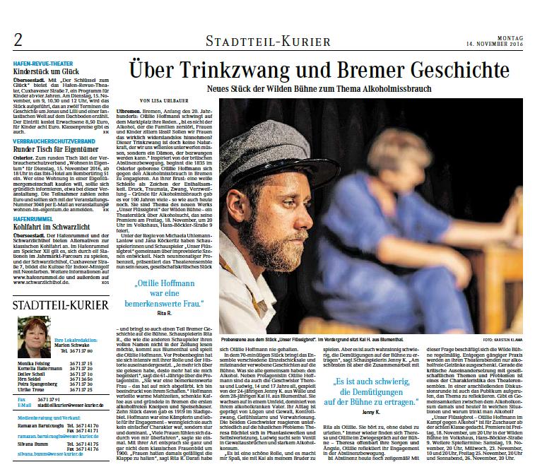 """21.11.2016 """"Über Trinkzwang und Bremer Geschichte"""""""