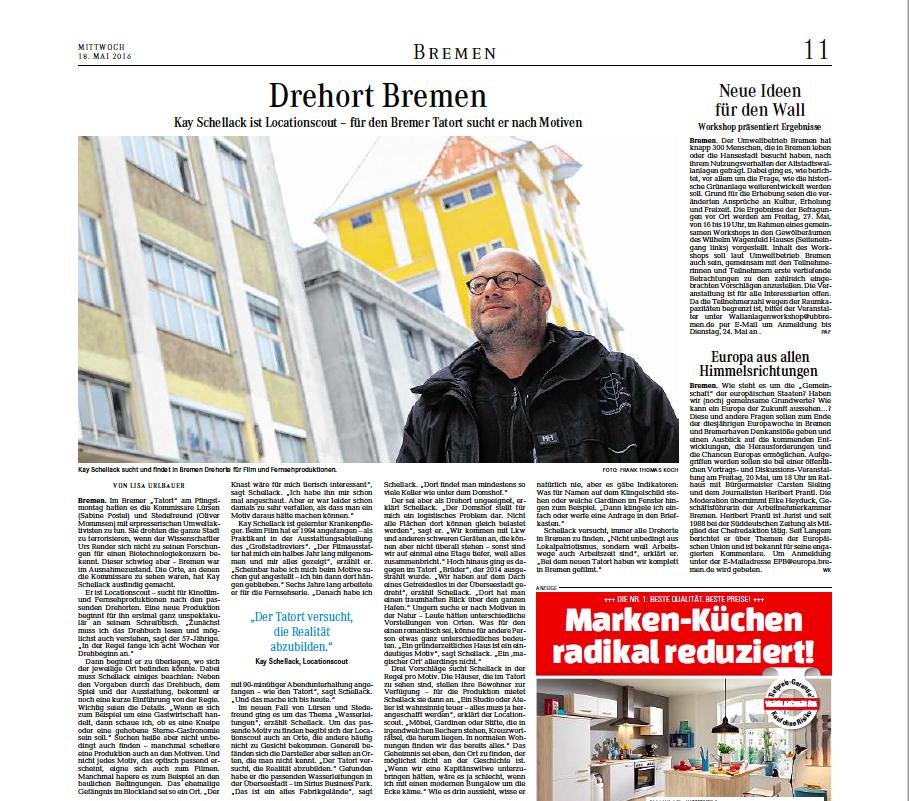 """18.05.2016 """"Drehort Bremen"""""""