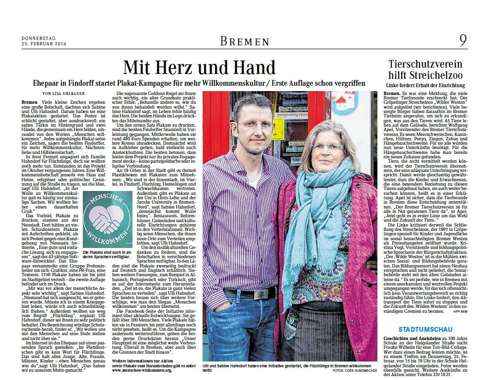 """25.02.2016 """"Mit Herz und Hand"""""""