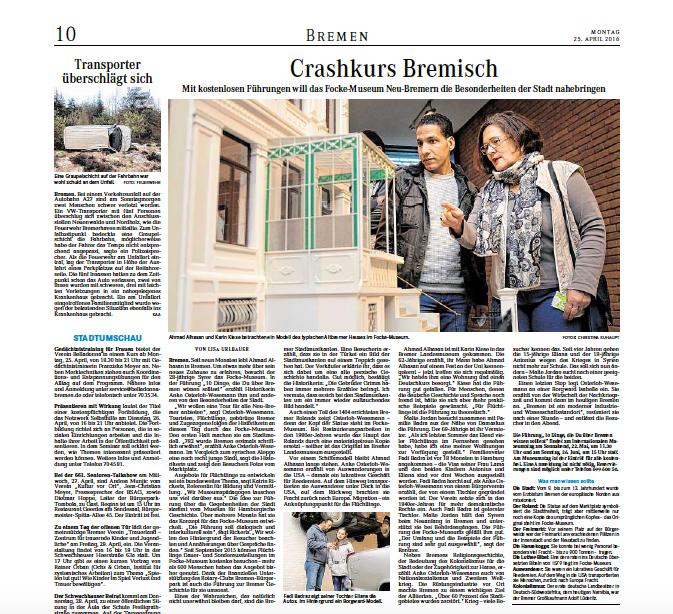 """25.04.2016 """"Crashkurs Bremisch"""""""